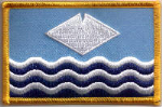 Isle of Wight Embroidered Flag Patch, style 08.